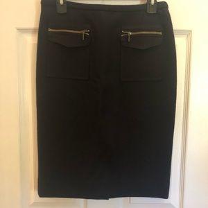J Crew Black Pencil Skirt